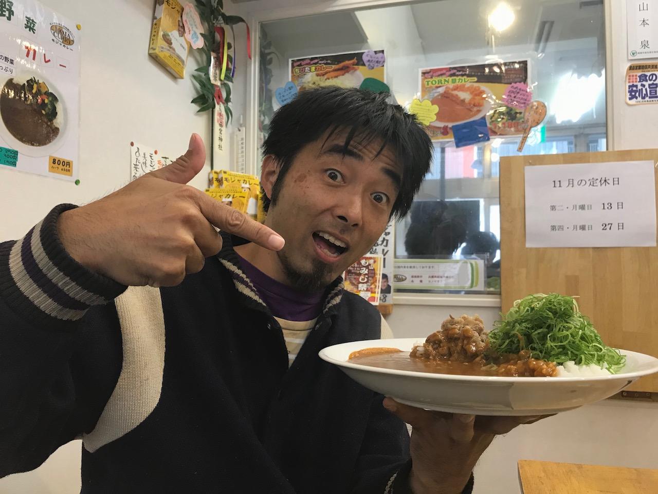スペシャルゲストと姫路駅前で汗だくになりながら激辛モジャカレーを食べてきた!